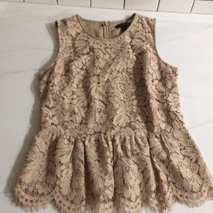Jcrew lace peplum top